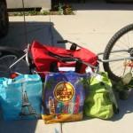 Bike Trailer Grocery Shopping