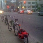 Maya Cycle parked and locked