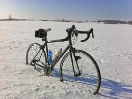 cycling four season in snow
