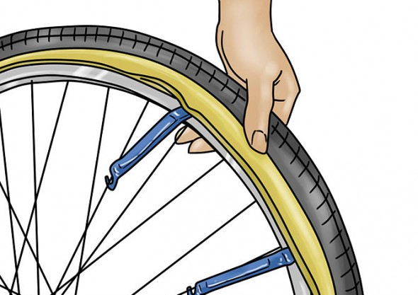 how to change a flat bike tire