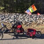 recumbent bike with bike trailer