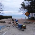 Maya Cycle bike trailer at the beach